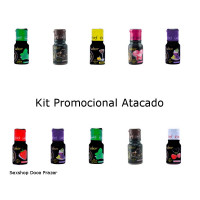 kit 10 gel Comestível mais + Sabor 15ml garji