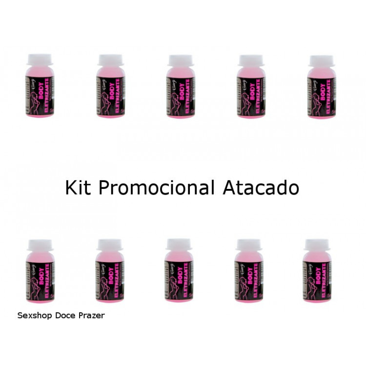 kit 10 Vibrador Líquido Body Eletrizante 5ml Garji